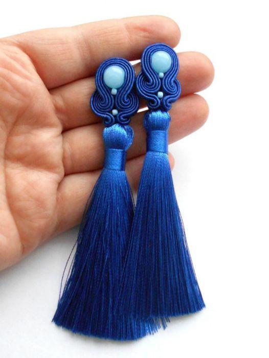 komplet z chwostem chaber i błękit