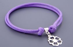 srebro i sznurek - kwiat