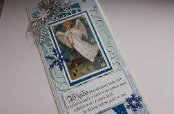 Kartka BN z aniołem