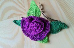 Spinka do włosów fioletowy kwiat