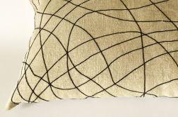 Poduszka dekoracyjna z surowego lnu.