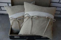Rustykalne lniane poszewki na poduszki