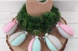 Jajka kolorowe pisanki ( róż, mięta szare)
