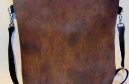Torebka damska torba worek brąz odcienie