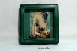 """Obrazek 3D """"Wino"""""""