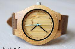 Drewniany damski zegarek BAMBOO BLUE
