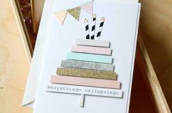 Kartka urodzinowa z tortem