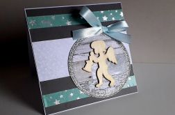 Kartka Boże Narodzenie handmade aniołek