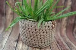 Koszyk ze sznurka bawełnianego beżowy S/M/L