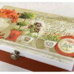 Herbaciarka dzielona na 8,  Martwa natura -