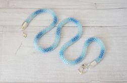 Cieniowany naszyjnik - niebieski