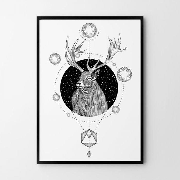 Plakat Jeleń 50x70 cm