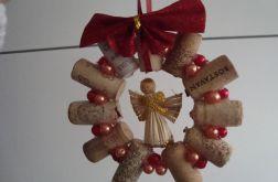 """wieniec bożonarodzeniowy """"winny anioł"""""""