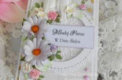 Ślubna kartka w pudełku DL 09