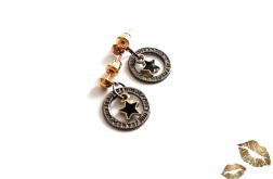Kolczyki z serii Blackgold - Gwiazdy
