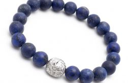 Bransoletka męska lapis lazuli hematyt lh312