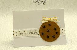W złotych gwiazdkach...Kartka Świąteczna