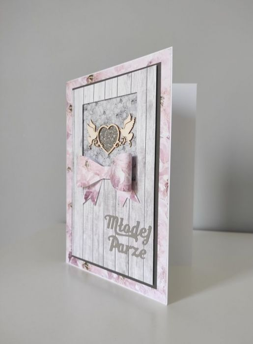 Kartka na Ślub ręcznie robiona duża A5 gołębie -