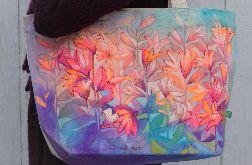 Ekologiczna, ręcznie malowana torba miejska