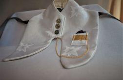 Biały garniturek na butelkę