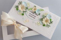 Kartka ślubna w pudełku Pastelowe kwiaty