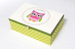 Pudełko 'Sweet owl 2'' - White Blue