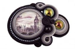 ~mela~ broszka sutasz LONDO grafika Big Ben