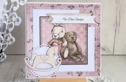 Kartka dla dziewczynki Vintage urodzinowa
