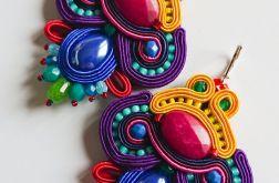 Kolorowe kolczyki z jadeitami i ceramiką