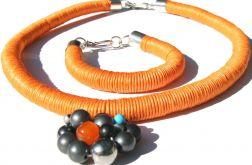 Naszyjnik orange z bransoletką