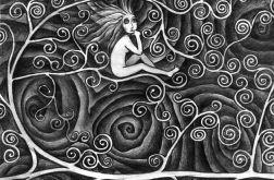 W gałęziach - oryginalny rysunek 0607