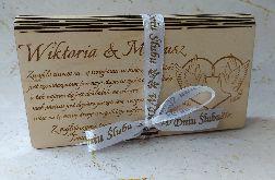 Prezent,pamiątka na ślub-pudełko na pieniądze