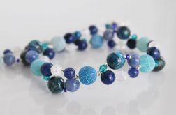Naszyjnik z kamieni naturalnych - błękit