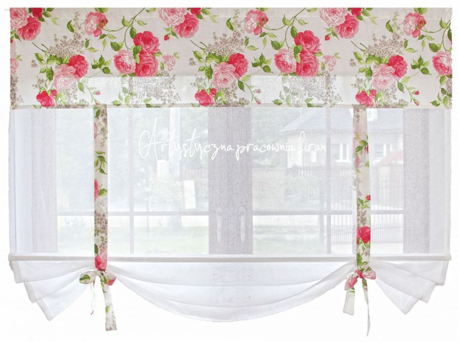 """Firana panel okienny """"Róże"""""""