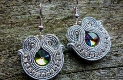 Kolczyki sutasz Shine silver and rainbow