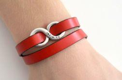 Infinity unisex bransoletka czerwona
