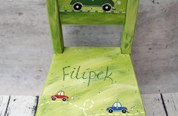 krzesełko z oparciem autka