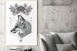 Plakat lis geometria 50x70
