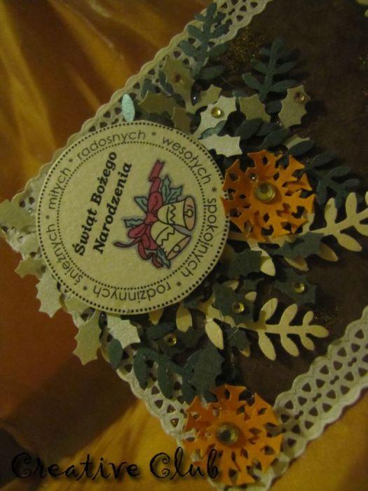 Renifer 5- Kartka świąteczna