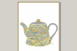 Grafika do kuchni lub jadalni, pastelowa, minimalistyczna