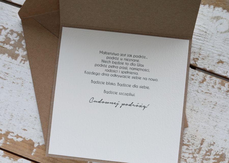 Kartka ślubna z kopertą - życzenia i personalizacja 1g -