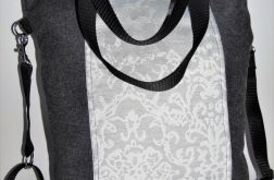 Torebka damska torba worek wełna drobny wzór