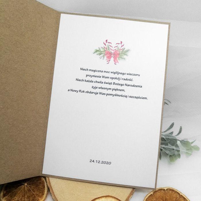 Kartka świąteczna pachnąca cynamon BNR 030