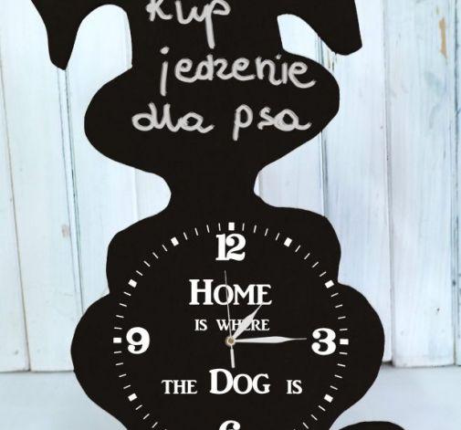 Zegar Tablica do Pisania Stojący Pies