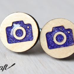 Drewniane spinki do mankietów APARAT Color