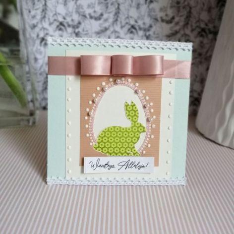 Kartka Wielkanocna z zajączkiem 1