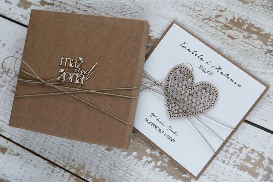 Oryginalna kartka ślubna i pudełko sorte 1