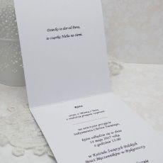 Zaproszenia na chrzest z tłoczeniem- białe1