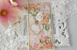 Ślubna kartka DL w pudełku 81