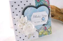 Z witrażem - kartka ślubna